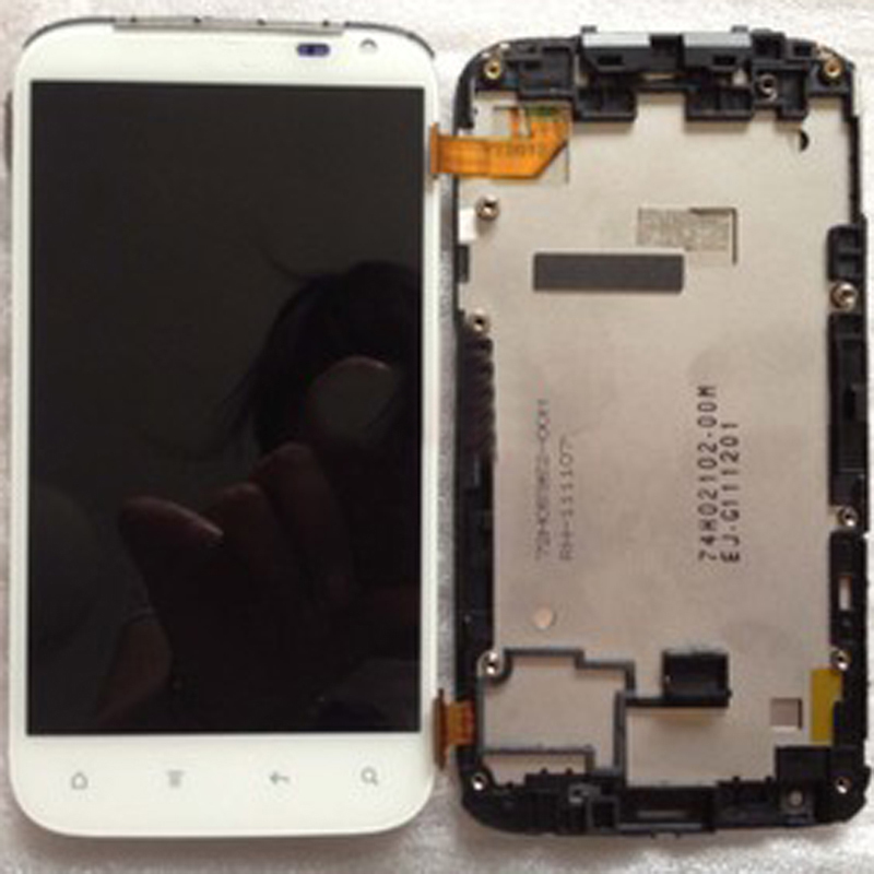 Free shipping, Original Digitizer Touch Screen LCD Display assembly with frame bezel for HTC Sensation XL X315e
