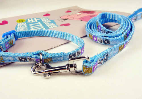 ペットの小型犬子犬猫うさぎ色犬の首輪 + リーシュリード調節可能なペットの安全ハーネスリーシュ首輪犬用品 1009 #