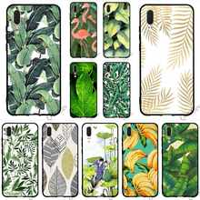 Pattern Banana Leaf Phone Cover for Huawei P Smart Case P8 Lite P20 Pro P10 P9 Mini Mate 10 20 Covers Back(China)