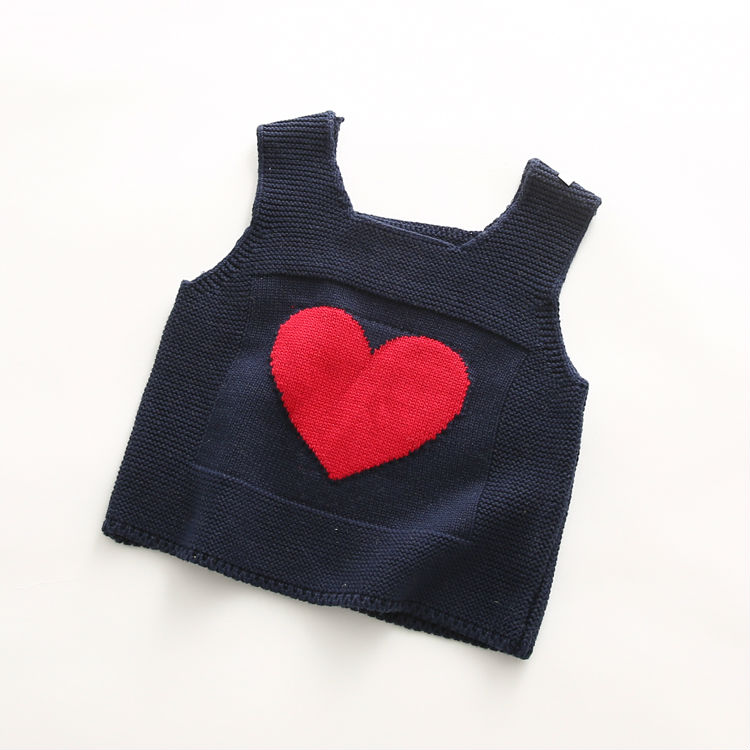 2016 Baby girl vest pink cartoon LOVE 100% Cotton Sweater Vest childrens vest fur vest for girls winter Jackets for children down coat of faux fur mehovaya vest  for boy vest kids     (12)