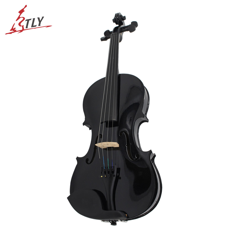 TONGLING High Quality Student Beginner Black Violin 4/4 Violino Fiddle w/ Case Bow Rosin Full Set Accessories Free Shipping 4 4 violin fiddle stringed instrument musical for kids student beginners high quality basswood body steel string arbor bow rosin