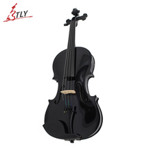 TONGLING High Quality Student Beginner Black Violin 4/4 Violino Fiddle w/ Case Bow Rosin Full Set Accessories Free Shipping