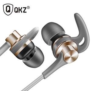Image 1 - QKZ auriculares metálicos EQ1 con micrófono, para teléfono Xiaomi