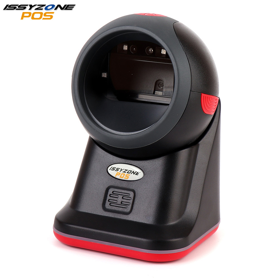 ISSYZONEPOS 2D QR CCD 1D Omnidirectional Barcode Scanner USB Barcode Reader POS System Screen Code Supermarket Library IOBC041 desktop omnidirectional 1d 2d ccd image laser barcode scanner for supermarket usb pos bar code reader auto scan 2d qr code