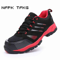 Plus Size Men S Leisure Steel Toe Caps Working Safety Shoes Outdoor Non Slip Comfortable Anti