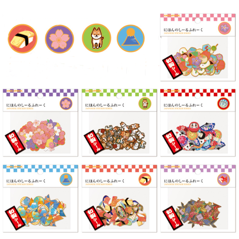 40 Pcs/pack Creative Cartoon japan designs mini sticker Decoration label Stationery School Supplies Gift For Kids