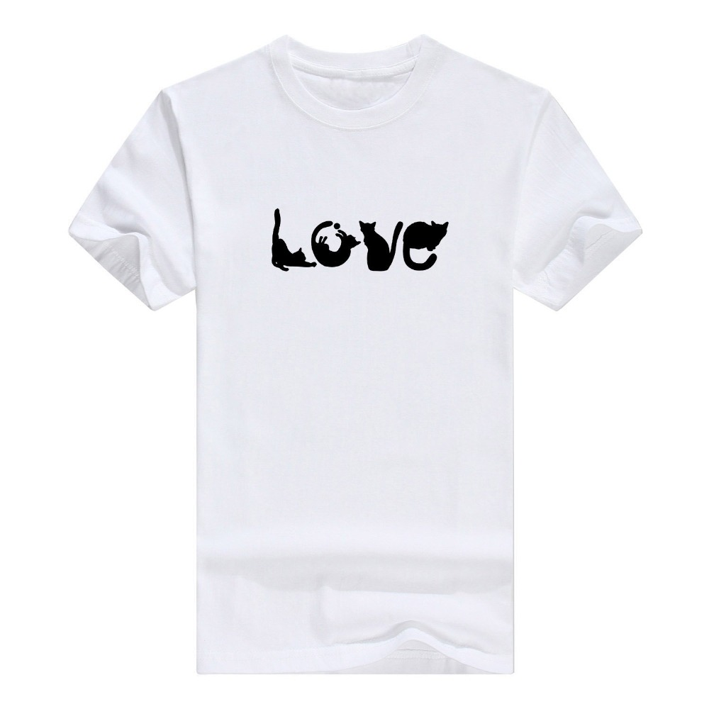 Cheap T Shirts 100% Cotton Lovers Gifts Love Spelled Funny Premium Crewneck s T-Shirt Crew Neck Short-Slee(China)