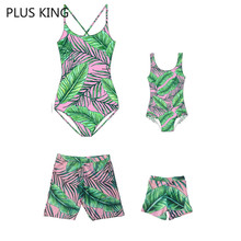 2019 Bohemian Family Swimwear Mother and Daughter Dress Father Son Beach Shorts Hot Sale