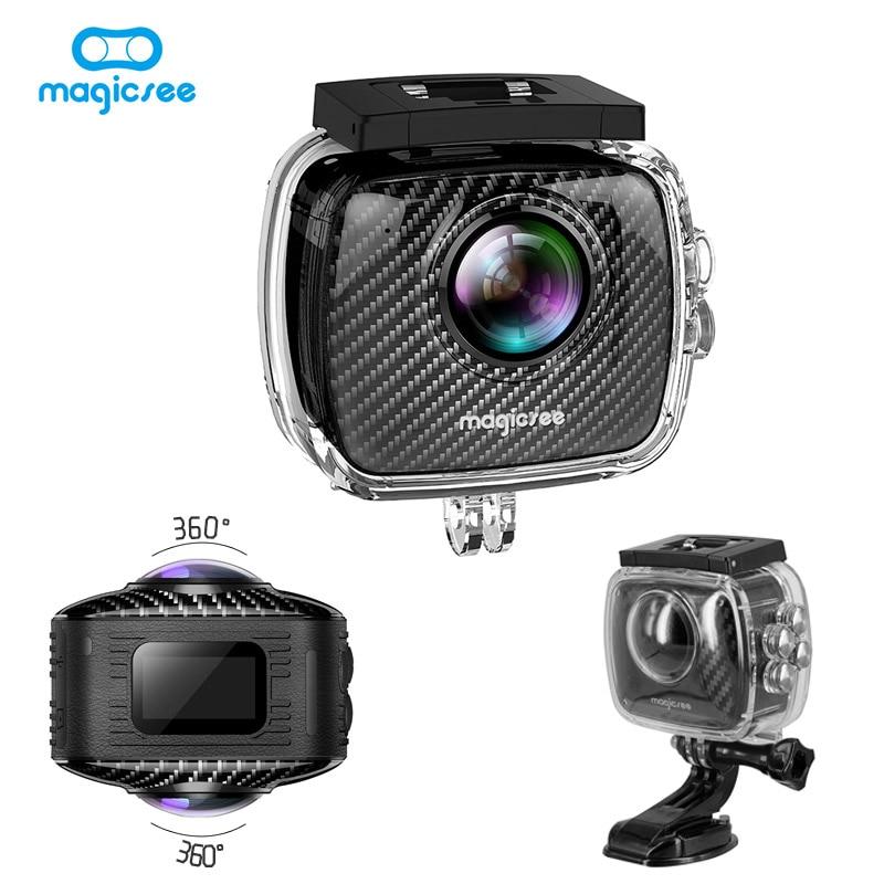 New Magicsee P3 Panorama VR Virtual Camera Video 360 Degree Sport Action Wifi for Facebook Multi-language Dual Lens Waterproof