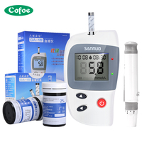 Sannuo GA 1 Blood Glucose Meter Household Code free Medical Detectic Diabetes Equipment Monitor With 50/100pcs Test Strip Lancet