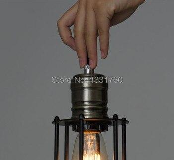 Vintage KAFES FILAMENT KOLYE Endüstriyel Aydınlatma Edison Ampul Siyah Tek RH Kolye Lamba LOFT Amerikan Country Tarzı Aydınlatma