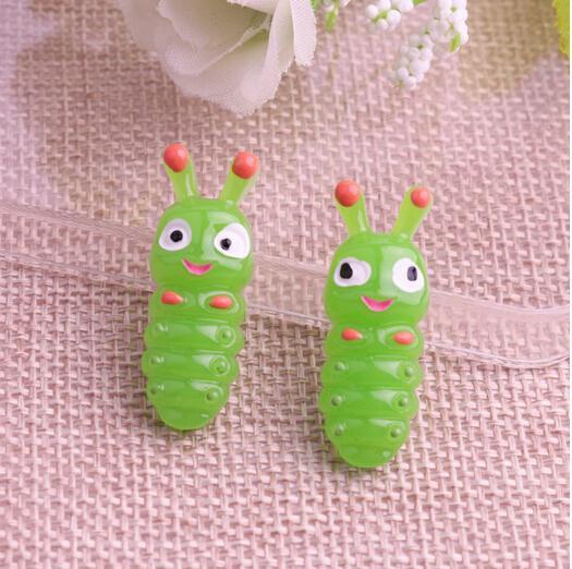 50pcs/12*31mm lovely resin green Sugar treasure Fake Faux food Resin crafts flat back cabochon for phone hair deco ...
