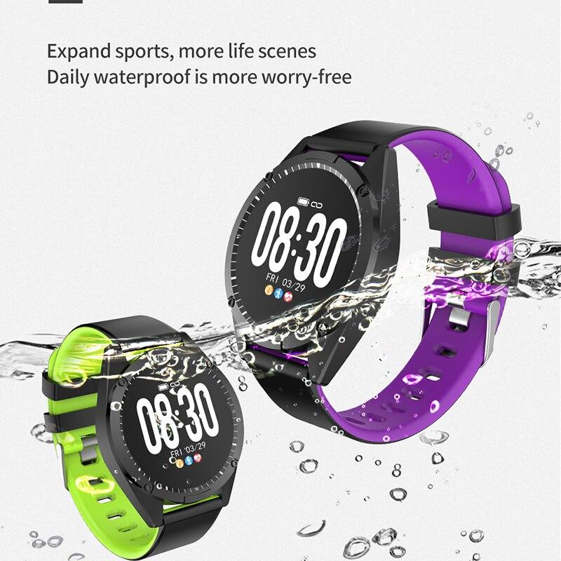 Inteligente para Mulheres dos Homens Monitor de Freqüência Relógio Pulseira Inteligente Tela Oled Cardíaca Pressão Arterial Fitness Rastreador Esporte Smartver Android Ios