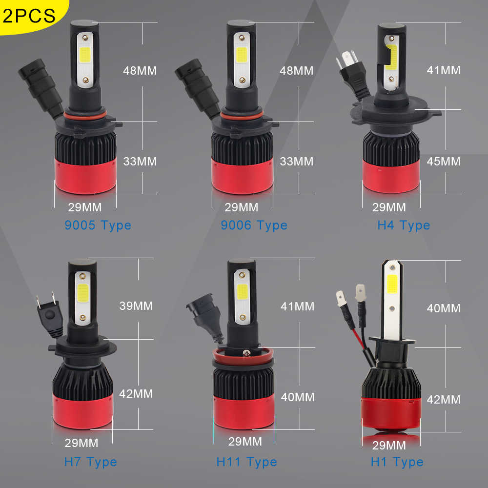 BraveWay H1 H4 H7 H8 H11 9005 HB3 9006 HB4 Led Bulbs for Cars Motorcycle Auto Led Lamp Headlight Fog Light Ice Light
