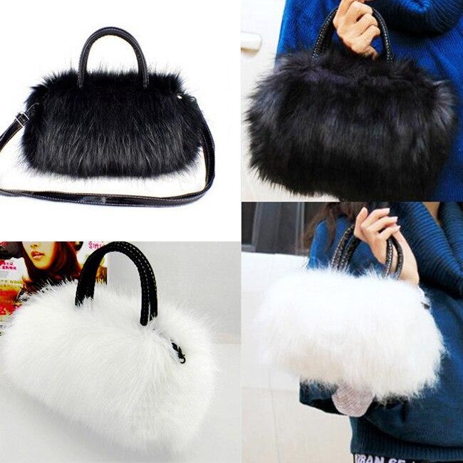 100 Weiblichen Faux Kaninchen Luxus Für Umhängetaschen Taschen Messenger lot Pcs Handtasche Frauen Kleine Tasche Fell Damen Shouldler rCBqzrwU