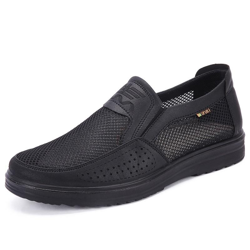 Merkmak 38 48 Men S Casual Shoes Men Summer Style Mesh Flats For Men Loafer Creepers Merkmak 38-48 Men'S Casual Shoes Men Summer Style Mesh Flats For Men Loafer Creepers Casual High-End Shoes Very Comfortable sho