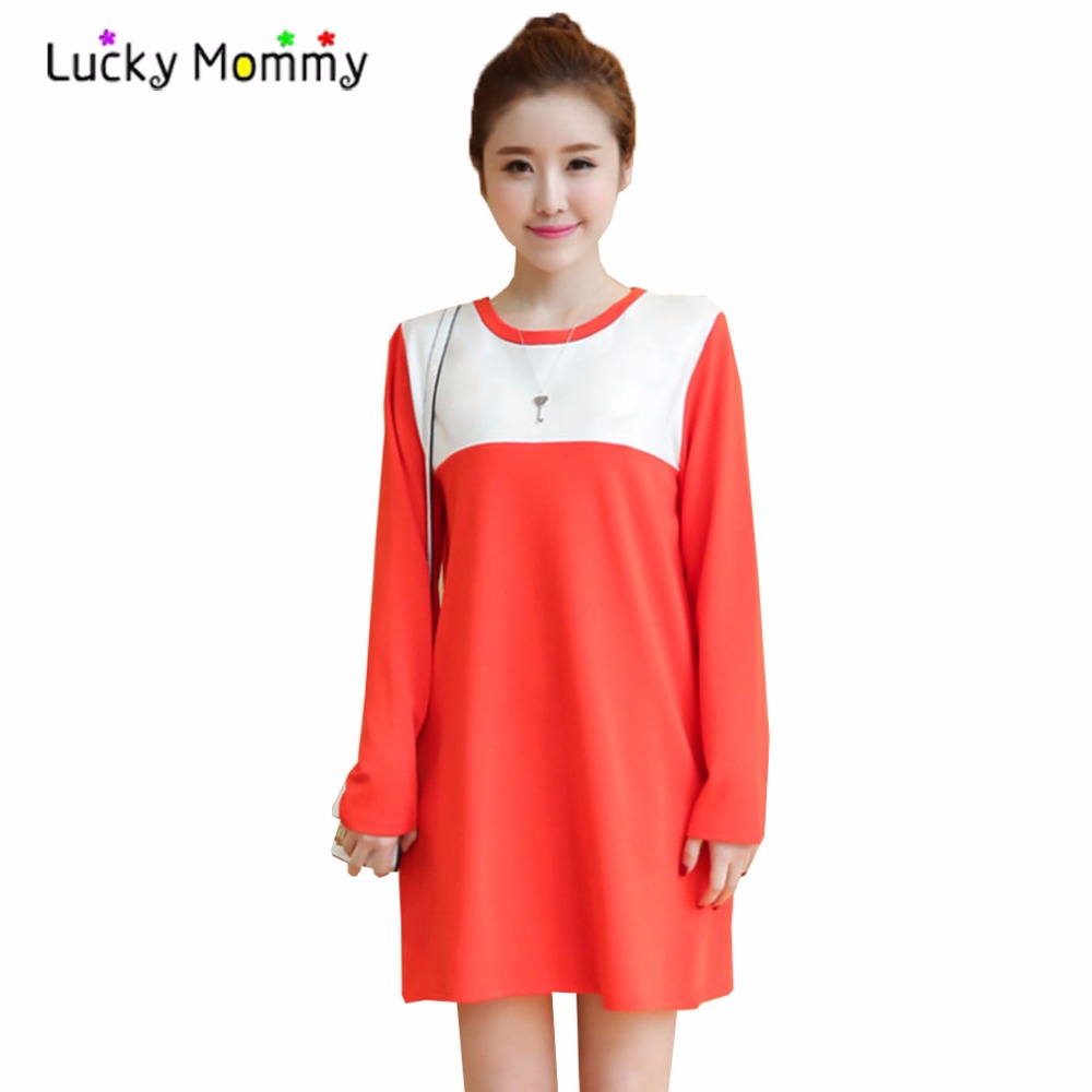 Compare prices on orange maternity online shoppingbuy low price fashion orange maternity dresses for pregnant women long sleeved spring pregnancy dress plus size maternity ombrellifo Gallery