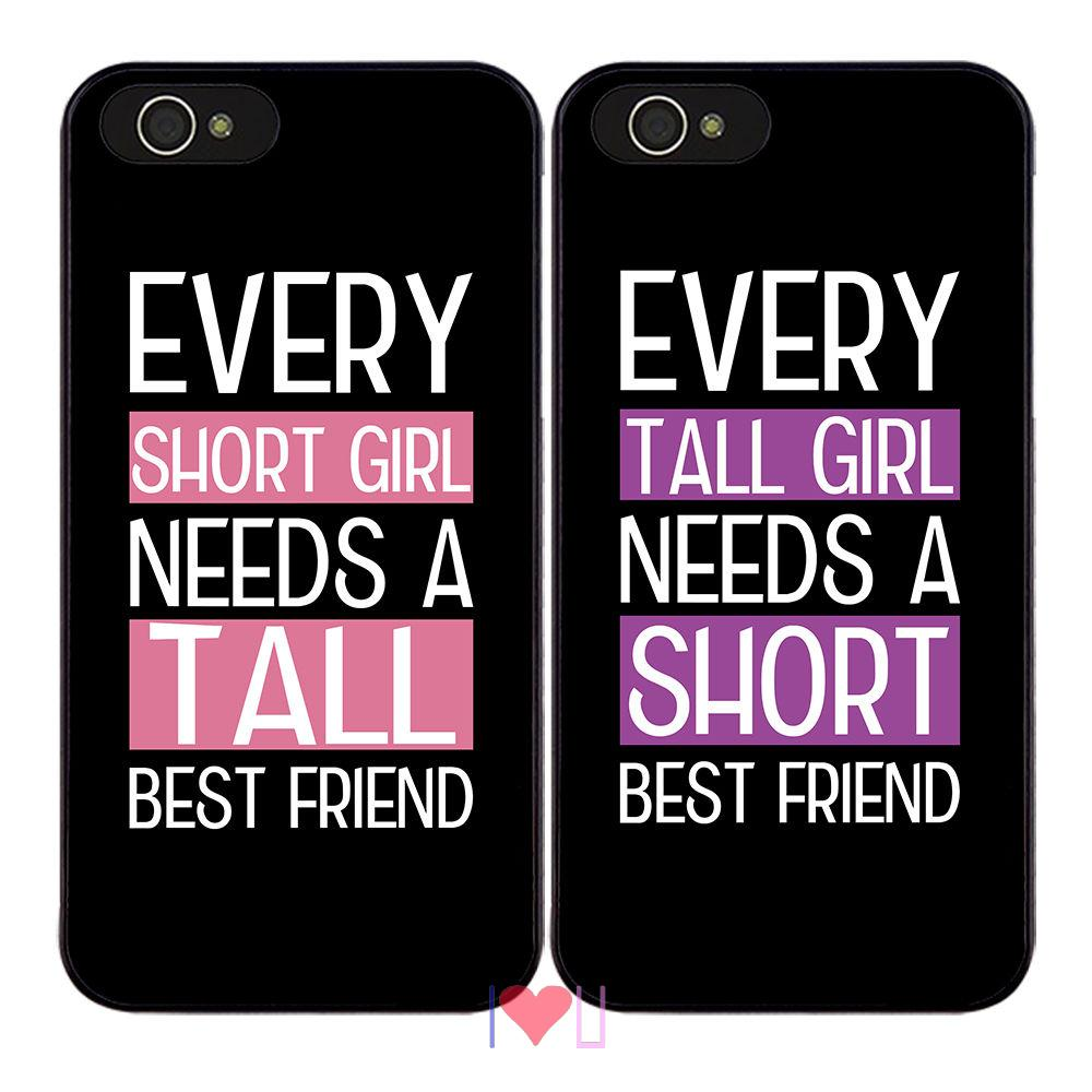 Tall & Short Girl Best Friend BFF back skins cellphone case cover fits iphone 4/4s 5/5s SE 6/6s plus ipod touch4/5/6  -  I LOVE U store