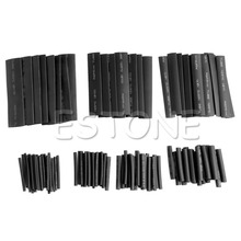 127 Pcs 2:1 Heat Shrink Tubing Cable Tube Sleeving Wrap Wire Set Polyolefin New