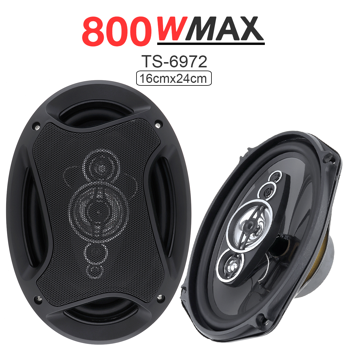 2pcs 6x9 quot 800W Car Coaxial Speaker Auto Audio Music Stereo Full Range Frequency Hifi Speaker Loudspeaker Non destructive for Car in Coaxial speakers from Automobiles amp Motorcycles