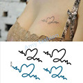 A prueba de agua DIY Pulsera Sexy Negro Azul Collar Tattoo Flash Productos Pegatina Tatuajes Temporales Sexy para Las Mujeres Los Hombres Body Art