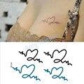 Colar Azul Do Flash Do Tatuagem à prova d' água DIY Pulseira Sexy Preto Produtos Etiqueta para Mulheres Homens Corpo Arte Tatuagens Temporárias Sexy