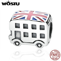 925 Sterling Silver London Bus Charm Beads Fit Original Pandora Bracelet Authentic Luxury Jewelry Gift Fast
