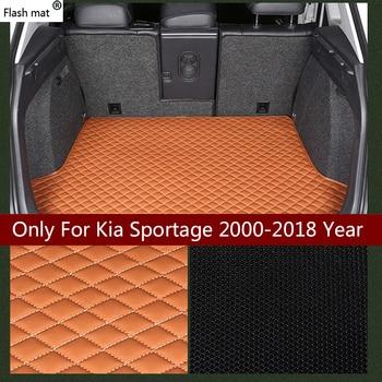 Flash mat leather Car Trunk Mats for Kia sportage 2000-2013 2014 2015 2016 2017 2018 Custom Trunk Pads automobile carpet cover