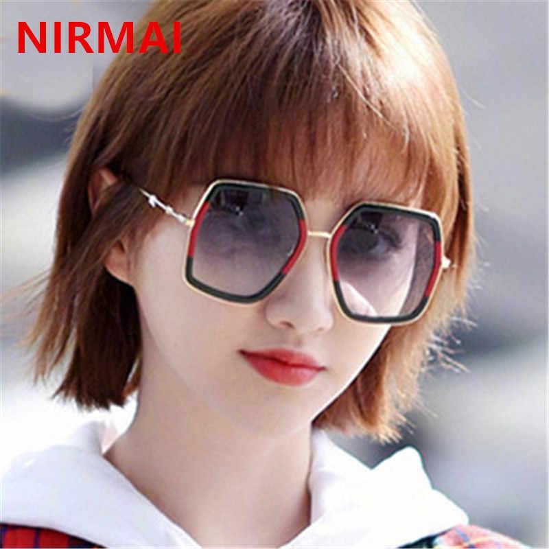 ae0502bfd1 NIRMAI Polygonal Women Sunglasses Men Glasses Lady Luxury Retro Metal Sun  Glasses Vintage Mirror oculos de