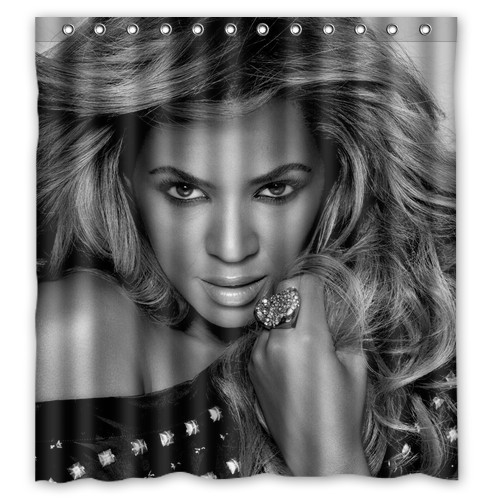 WARM TOUR Beyonce Fashion Shower Curtain Polyester Hotel Bathroom With Hooks Ring72X72Inch