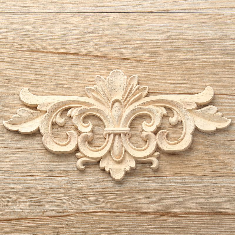 Wood Carved Corner Onlay Applique Frame Home Decor Furniture Craft Unpainted KW
