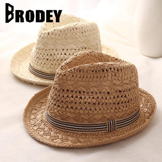 2019 mujeres paja sol sombrero de verano dulce Retro chico sombreros de  paja playa padre- 42e60b18248