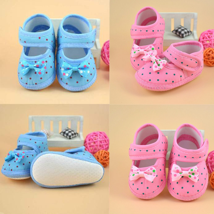 Baby Bowknot Boots Soft Crib Shoes Baby Shoes Summer First Walker Baby Girl