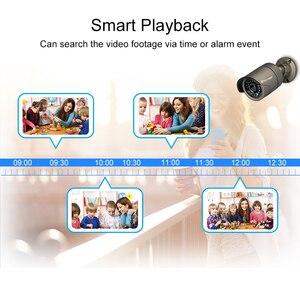 Image 5 - Techage 4CH 1080P POE kamera NVR sistemi 2MP ses ses CCTV Video gözetim kiti hava koşullarına dayanıklı Video ev güvenlik kamerası seti