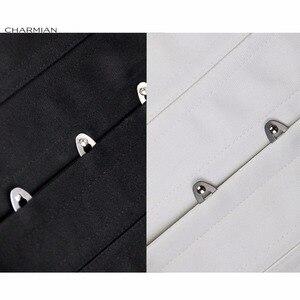 Image 5 - Charmian 26 Steel Double Boned Overbust Long Torso Corsets Bustiers Waist Trainer Corsets Shapewear Cincher Plus Size Corselet