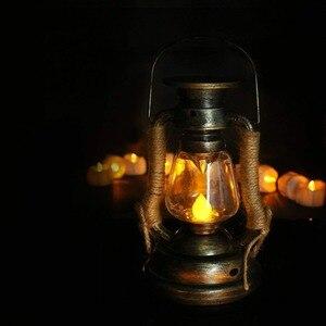 Latarnia solarna, świeca led zewnętrzna lampa ścienna olejowa, lampa akumulatorowa elektroniczna lampka nocna na podwórko ogrodowa, Home decor