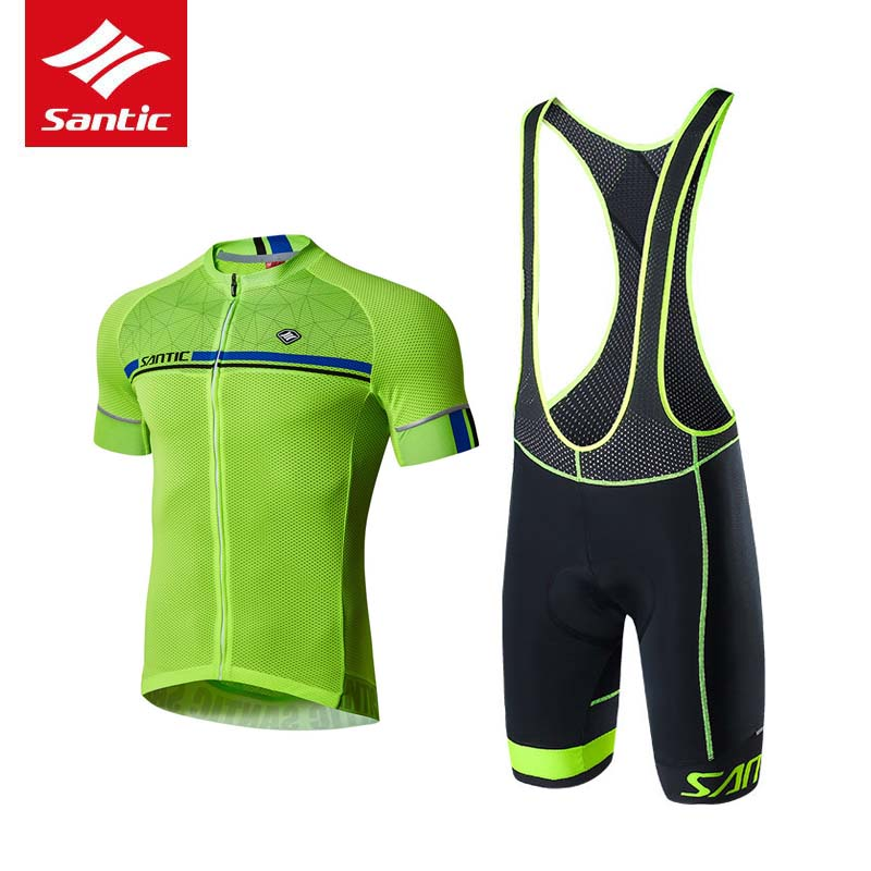 Santic Cycling Jersey Men 2018 Quick Dry MTB Road Bike Clothing Set Breathable Downhill Bicycle Suits Sportswear Ropa Ciclismo 2017 santic mens breathable cycling jerseys winter fleece thermal mtb road bike jacket windproof warm quick dry bicycle clothing