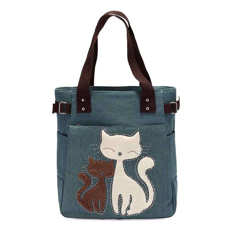 ombro bolsa de lona gato Ocasião : Versátil