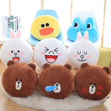 Classic cartoon Brown bear cony plush toy Creative boutique doll Pillow Bedroom decorations 45cm