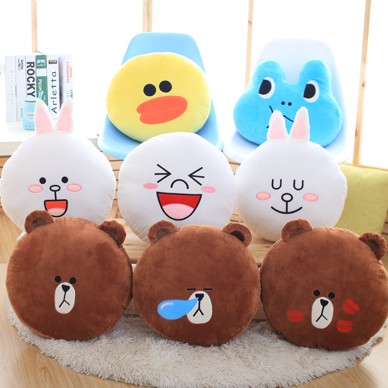 Classic cartoon Brown bear&cony plush toy Creative boutique doll Pillow Bedroom decorations 45cm