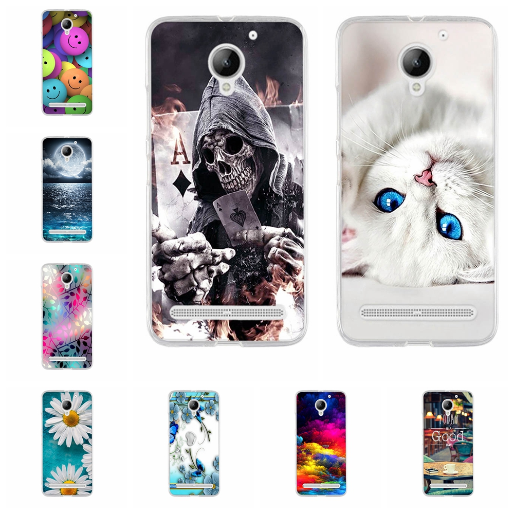 for lenovo Vibe C2 5.0 inch 3D Pattern Soft TPU Slim Back Cover For Lenovo C2 Vibe C2 c2 power K10A40 Soft Silicone Phone Cover image