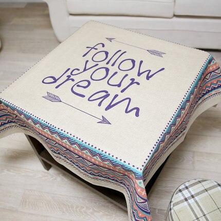 Table Cloth Rectangular Round Linens Nappe Floral Cotton Kitchen Oilcloth Mesa Fabric Doily Drap Cloth Tablecloths Mat QQO643