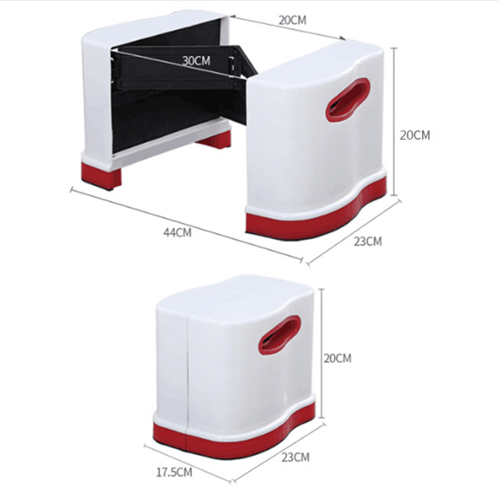 Image 3 - New Qualified Squatty Bathroom Thicken Folding Portable Stools Toilet Stool Step Footstool Piles Relief Aid Safety Folding Stool-in Bathroom Chairs & Stools from Furniture
