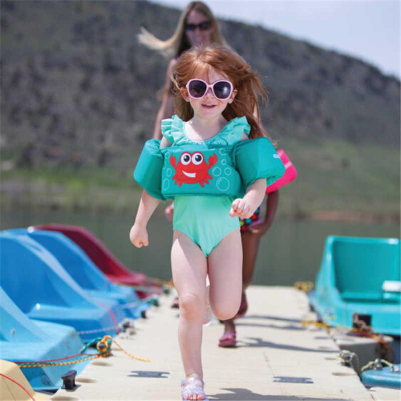 1-7 อายุ Puddle Jumper Baby Float สระว่ายน้ำลอยเสื้อกั๊กชีวิตความปลอดภัยแขนว่ายน้ำเสื้อกั๊กชีวิตเสื้อโฟมว่ายน้ำทุ่นเด็ก