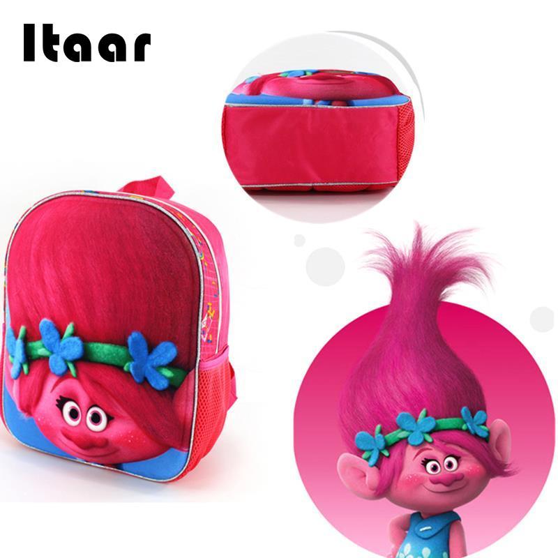 Милый розовый Dreamworks Trolls школьный быть верным вы Детская сумка 12 Рюкзак ...