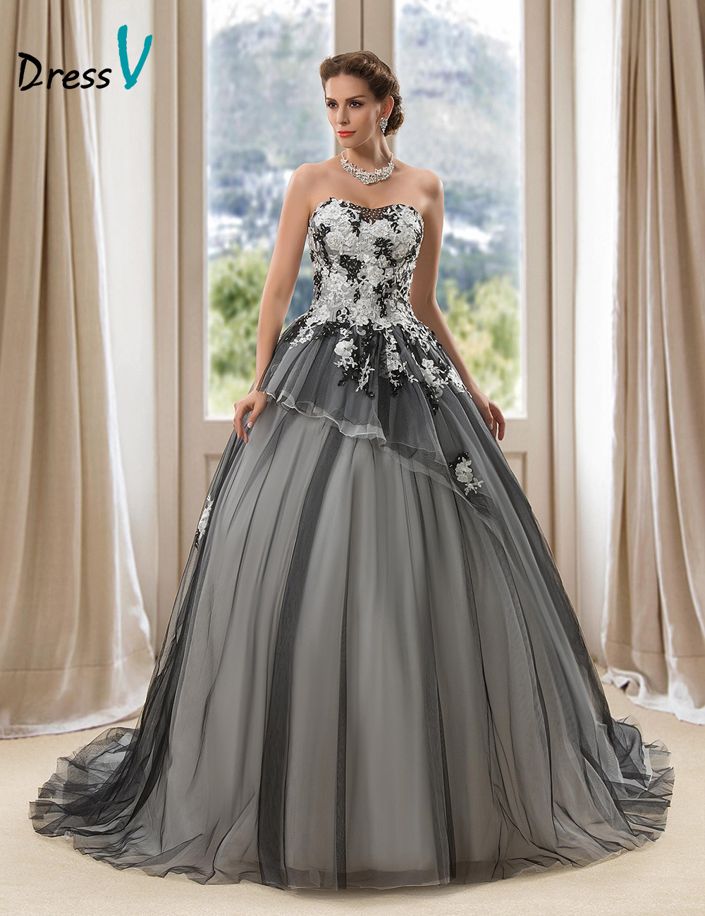 Aliexpress.com : Buy Vintage BlackWedding Gowns Ball Gown Wedding ...