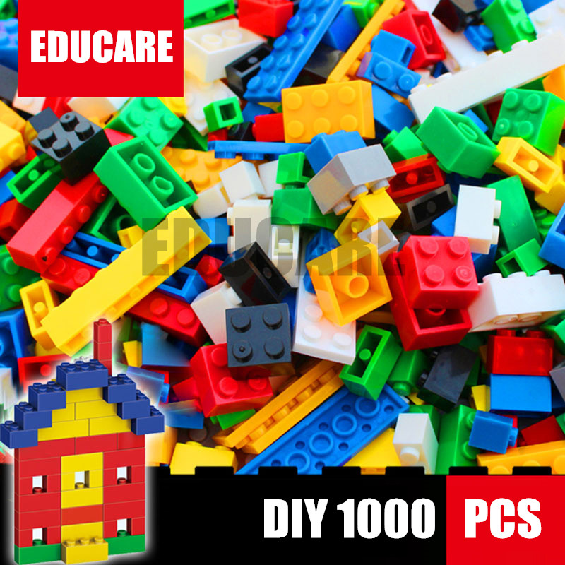 1000 Pcs model Building kits Bricks City DIY Creative Brick Toys Educational Bulk Bricks Compatible With Lego kid gift set