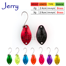 Jerry 1pc pesca brass fishing spoons bright colors high quality baubles trout spoon lures