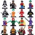 16 pcs Super Heroes Batman Harley Quinn Filme Robin Assassino Baleia Poison Ivy Palhaço Figuras Blocos Brinquedos Builidng Legoes Compatível