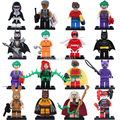 16pcs Super Heroes Batman Movie Harley Quinn Robin Killer Whale Poison Ivy Clown Figures Builidng Blocks Toys Legoes Compatible